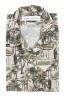 SBU 01720 Camicia hawaiana fantasia in cotone stampato marrone 06
