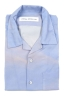 SBU 01721 Camisa hawaiana estampada de algodón azul 06