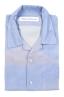 SBU 01721 Hawaiian printed pattern blue cotton shirt 06