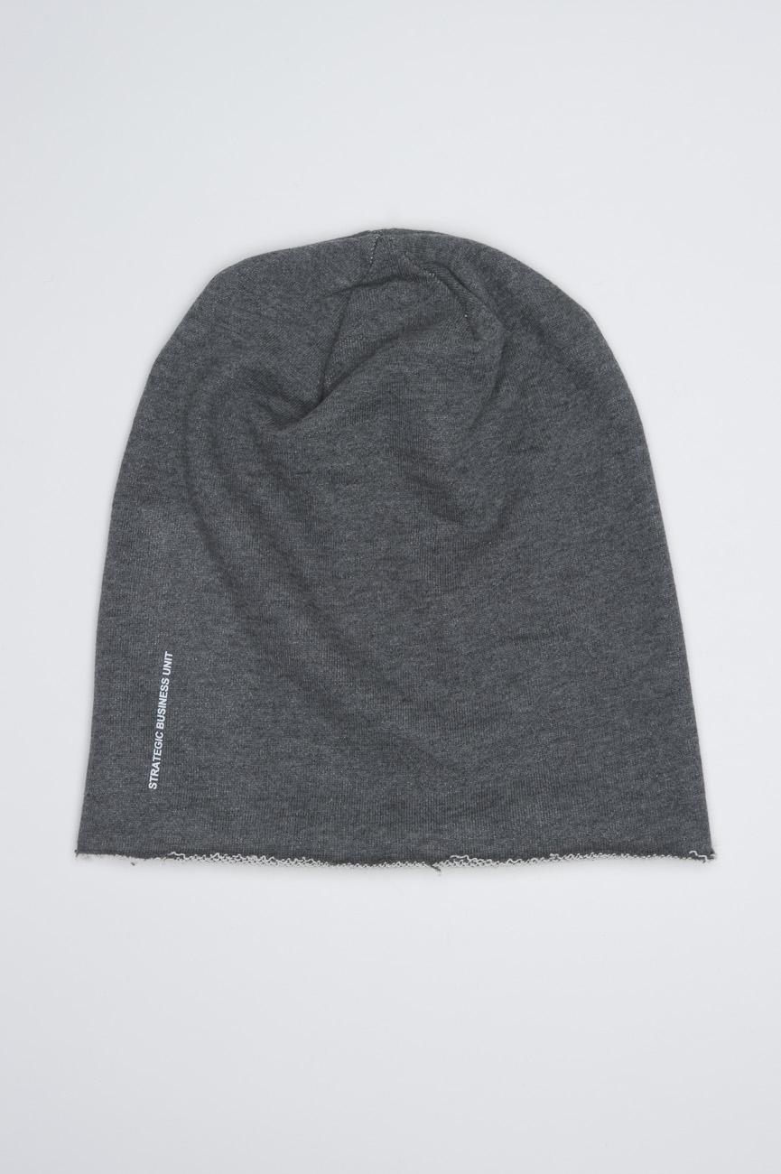Classic Sharp Cut Grey Jersey Bonnet