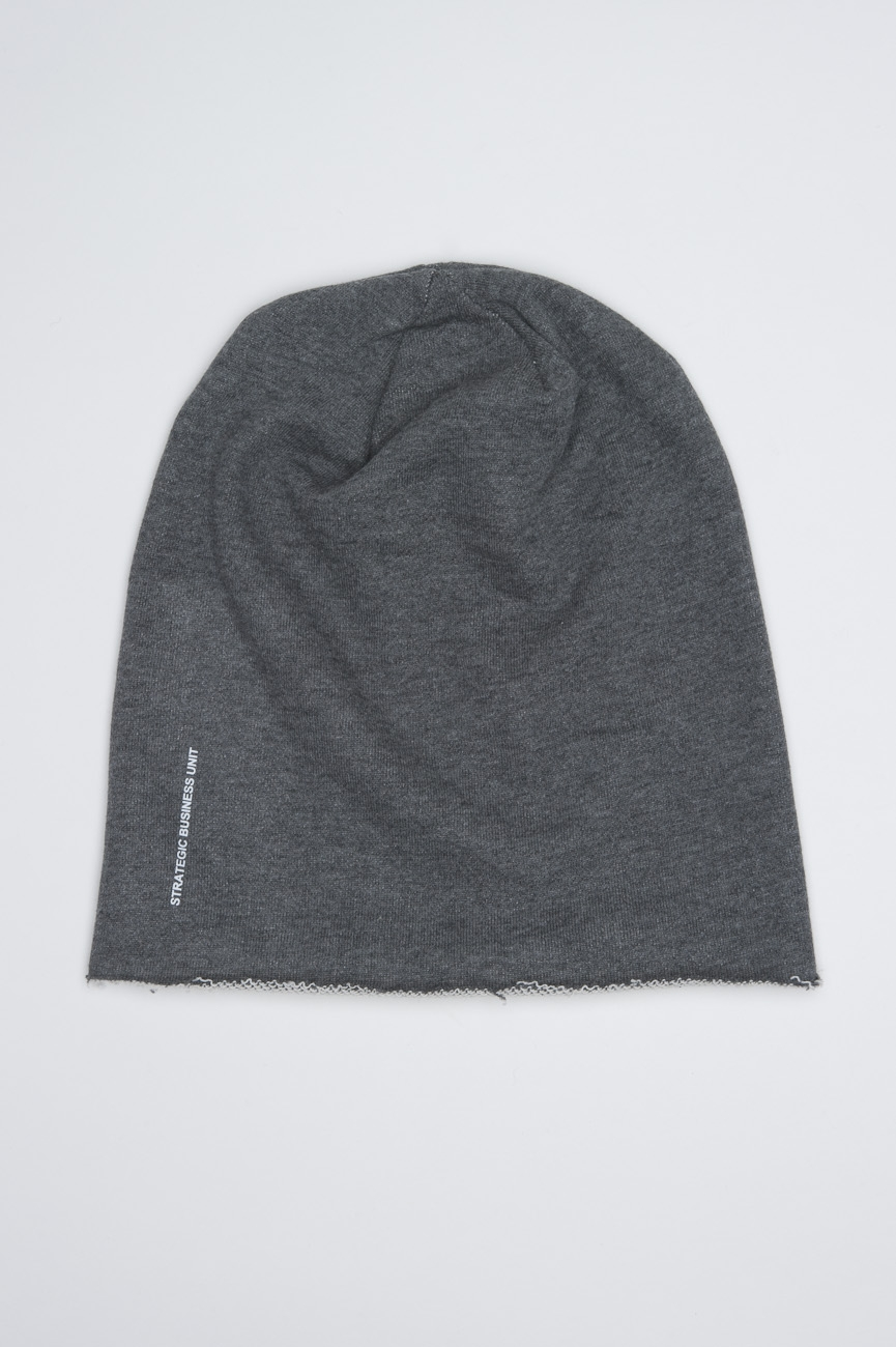 Classic Sharp Cut Grey Jersey Bonnet