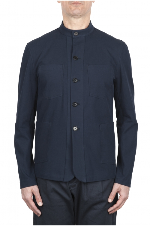 SBU 01727 Mandarin collar sartorial work jacket navy blue 01