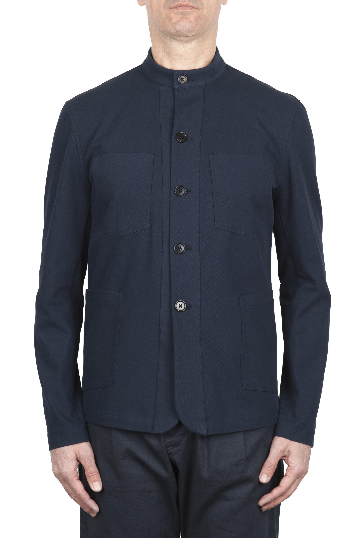 SBU 01727 Mandarin collar sartorial work jacket navy blue 01