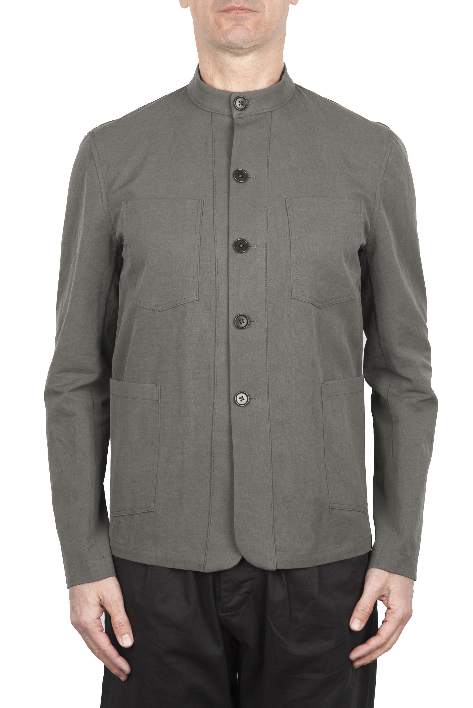 SBU 01728 Mandarin collar sartorial work jacket green 01