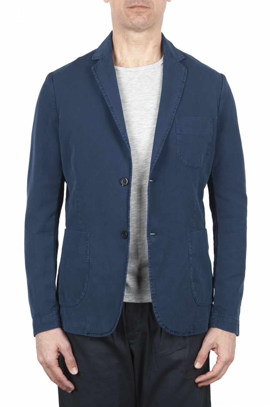 SBU 01731 Blue cotton sport jacket unconstructed and unlined 01