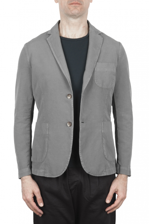 SBU 01732 Light grey cotton sport jacket unconstructed and unlined 01