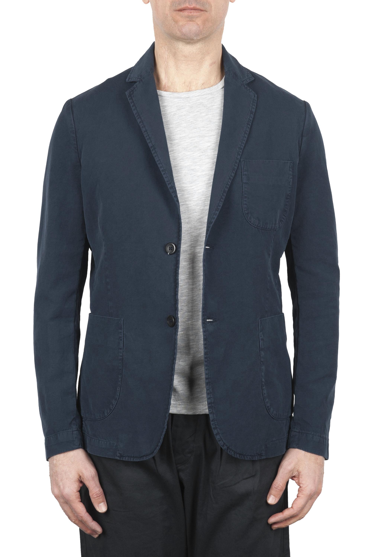 SBU 01734 Chaqueta deportiva de algodón azul marino sin forro 01