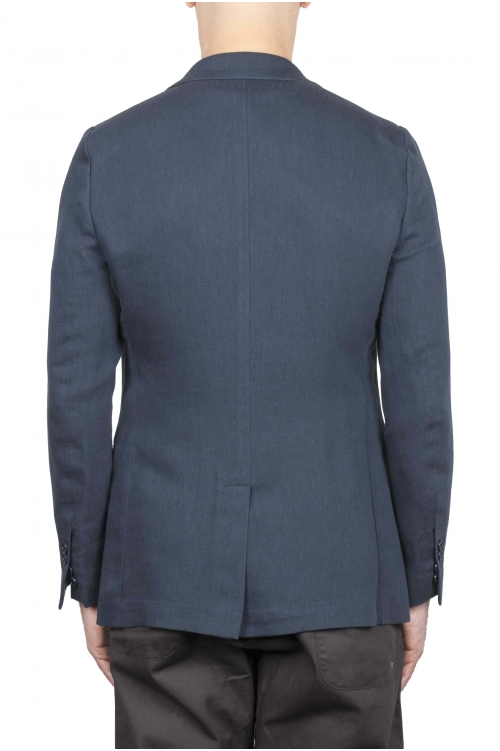 SBU 01738 Single breasted grey linen blended blazer 01