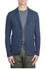 SBU 01739 Single breasted blue stretch cotton blazer 01