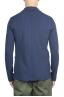 SBU 01739 Blazer en algodón elástico azul cruzado 04