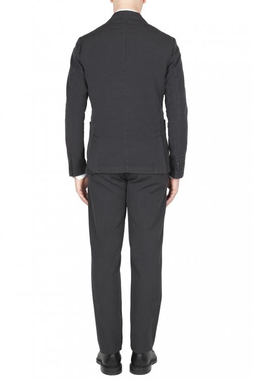SBU 01741 Blazer y pantalón de traje deportivo de algodón antracita 01