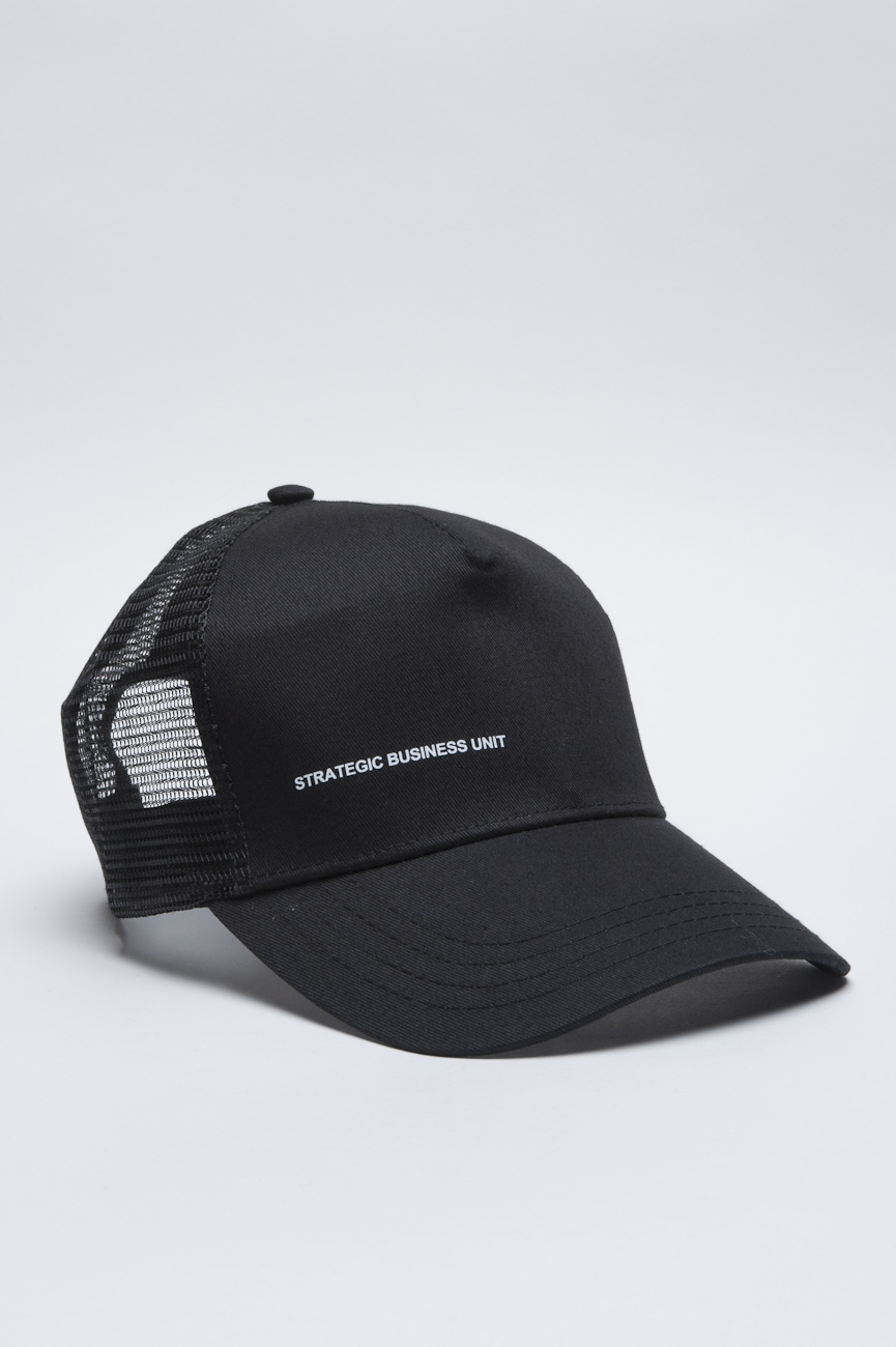 SBU - Strategic Business Unit - Trucker Cap Classico Di Cotone Nero