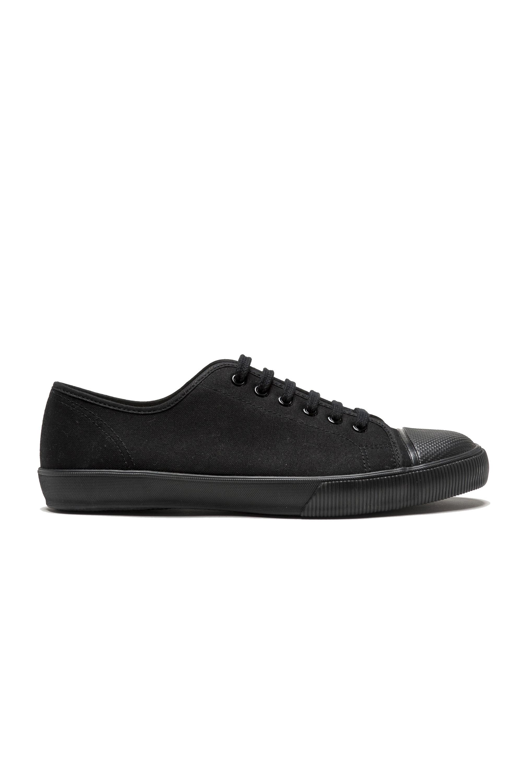 SBU 01532 Sneakers stringate classiche di canvas nere 01
