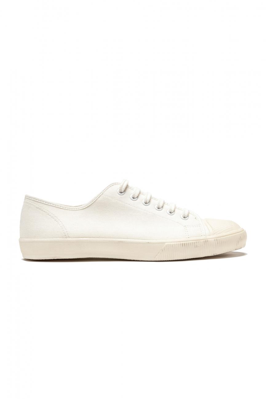 SBU 01531 Zapatillas clásicas con cordones en lona de algodón blancas 01