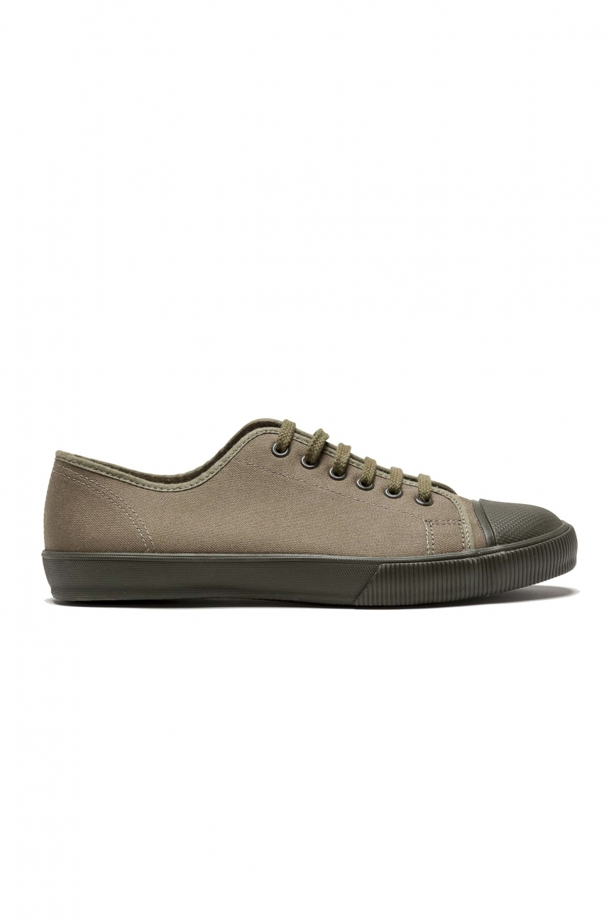 SBU 01530 Zapatillas clásicas con cordones en lona de algodón verde 01