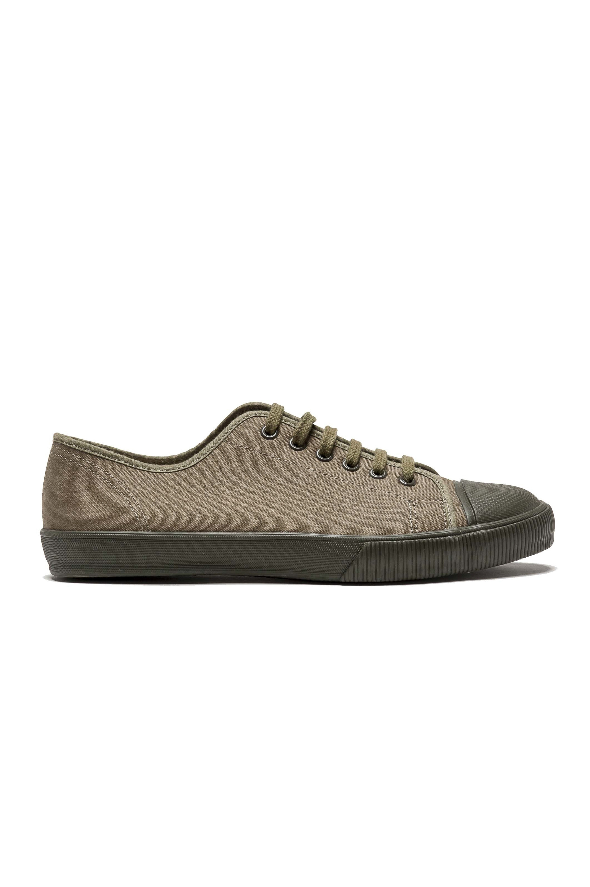 SBU 01530 Classic lace up sneakers in in green cotton canvas 01