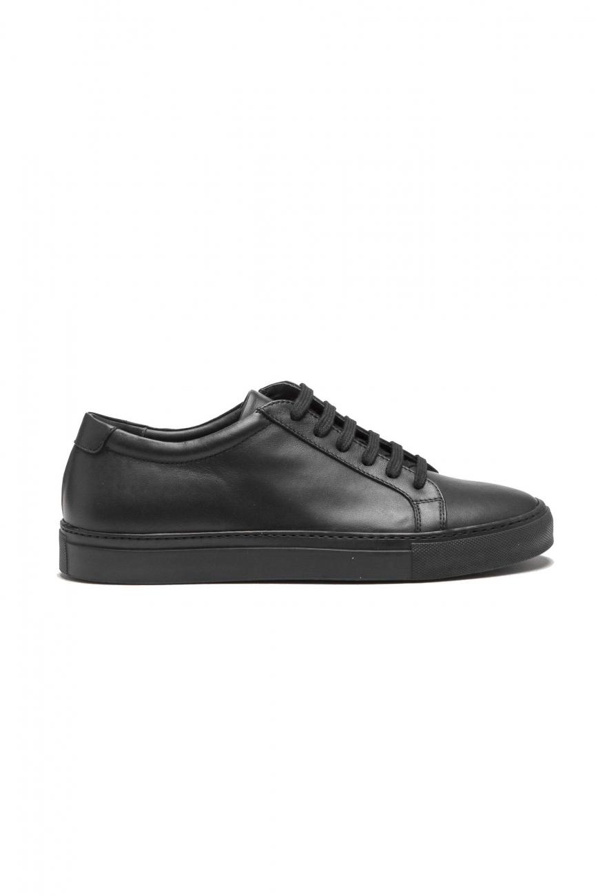 SBU 01527 Zapatillas clásicas con cordones en piel de becerro negras 01