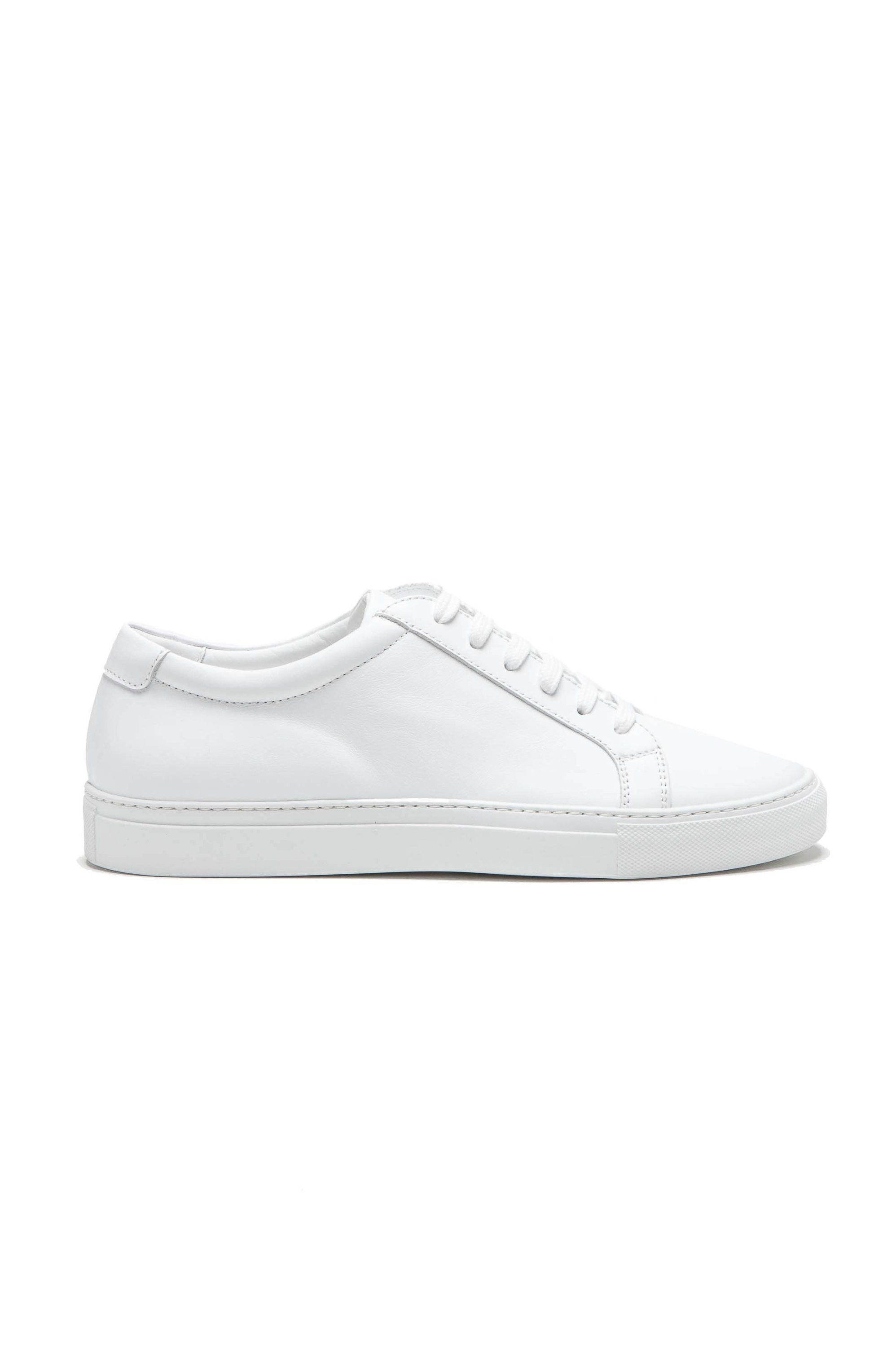SBU 01526 Classic lace up sneakers in white calfskin leather 01
