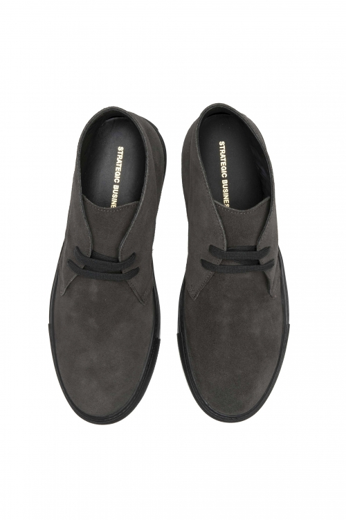 SBU 01521 Chukka boots in grey suede calfskin leather 01