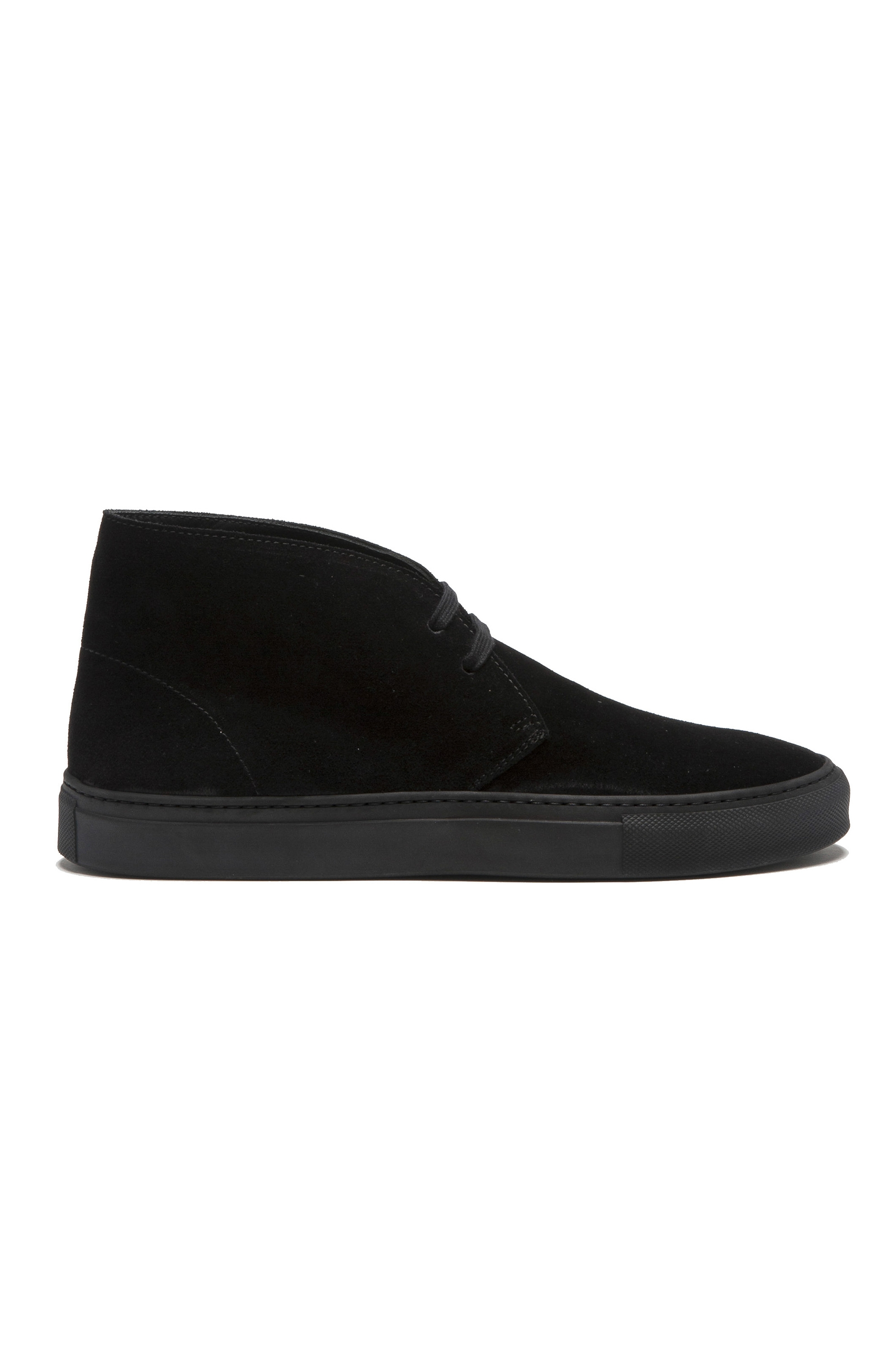 SBU 01520 Chukka boots in black suede calfskin leather 01