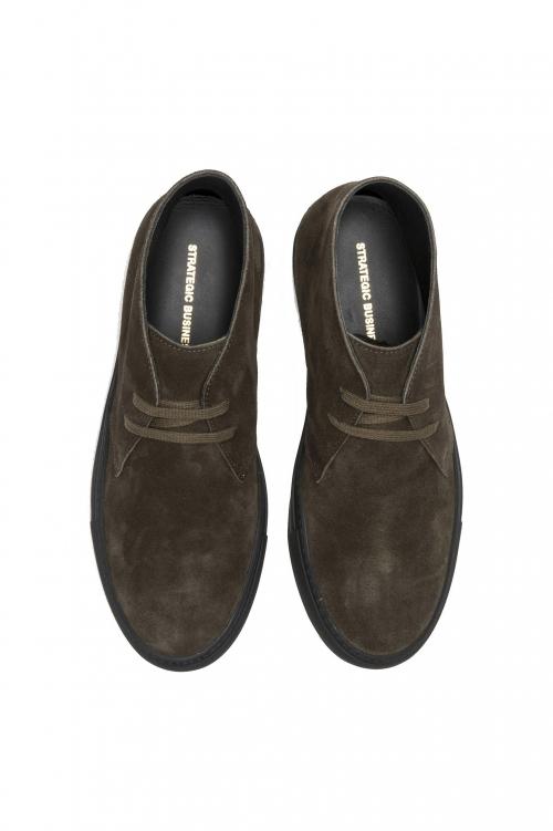 SBU 01519 Chukka boots in green suede calfskin leather 01