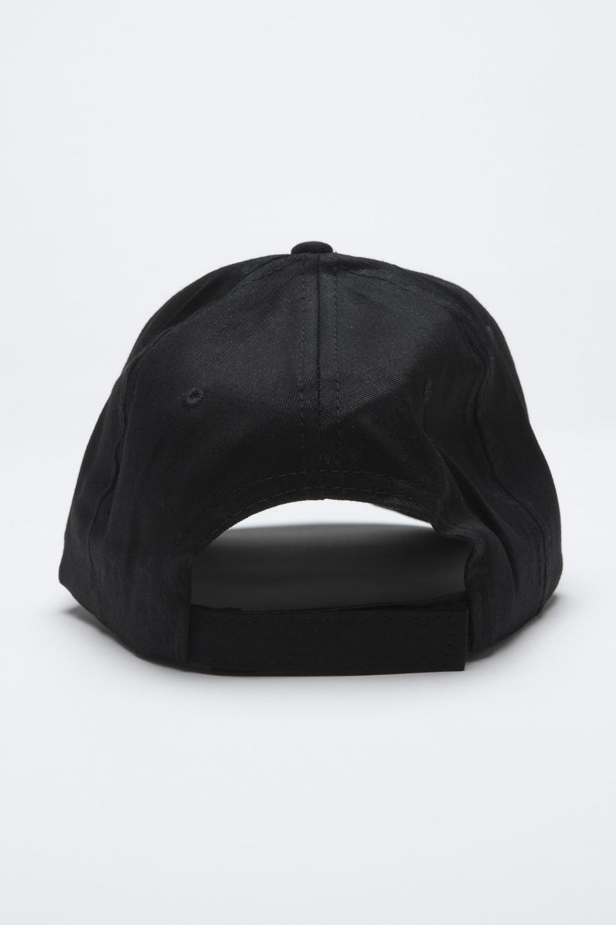 Clásica gorra negra de beisbol con visera d7738a68d00