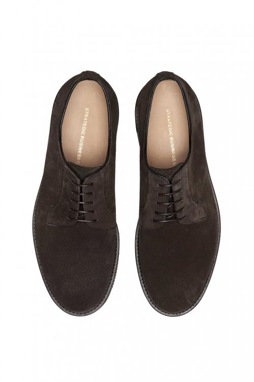 SBU 01498 Derbies marrón con cordones ante liso con suela de goma Vibram 01