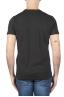 SBU 01748 Shirt classique noir col rond manches courtes en coton 05
