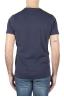 SBU 01750 Shirt classique bleu marine col rond manches courtes en coton 05
