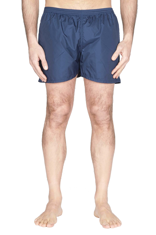 SBU 01758 Costume pantaloncino classico in nylon ultra leggero blu navy 01