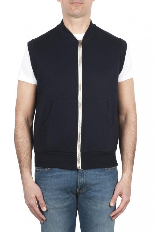 SBU 01767 Chaleco de jersey de algodón azul 01