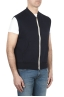 SBU 01767 Blue cotton jersey sweatshirt vest 02