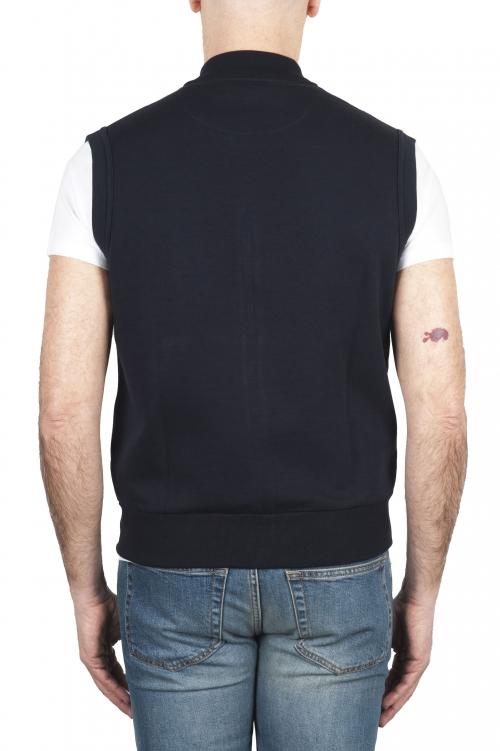 SBU 01767 Felpa gilet in jersey di cotone blue 01