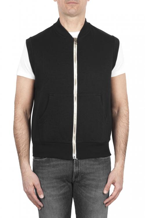 SBU 01768 Sweat-shirt en jersey de coton noir 01