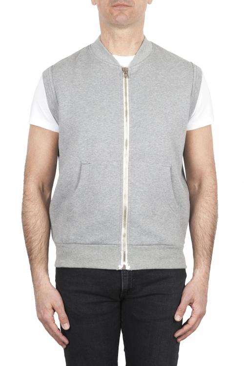 SBU 01769 Light grey cotton jersey sweatshirt vest 01
