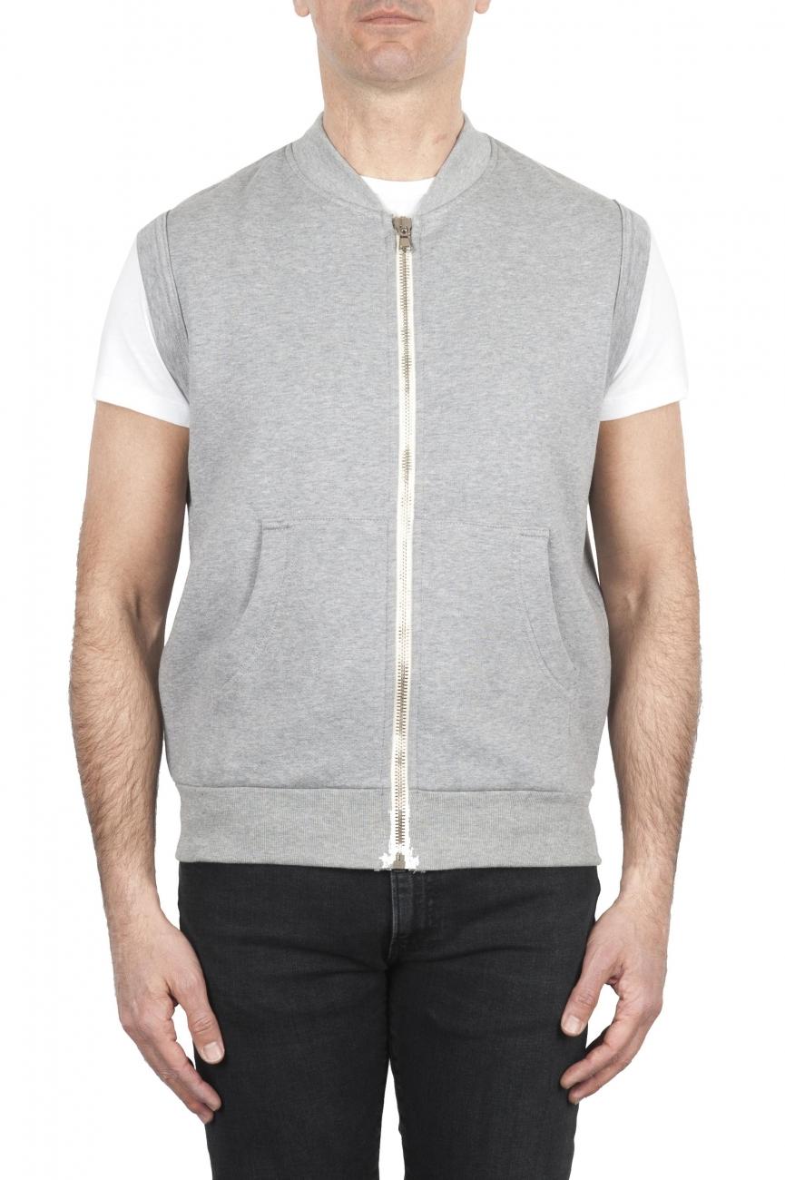 SBU 01769 Sweat-shirt en jersey de coton gris clair 01