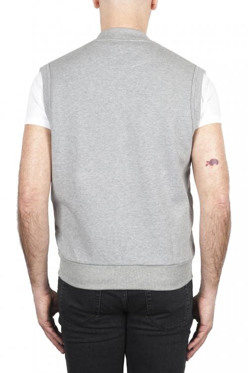 SBU 01769 Felpa gilet in jersey di cotone grigio chiaro 01
