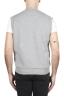 SBU 01769 Felpa gilet in jersey di cotone grigio chiaro 04