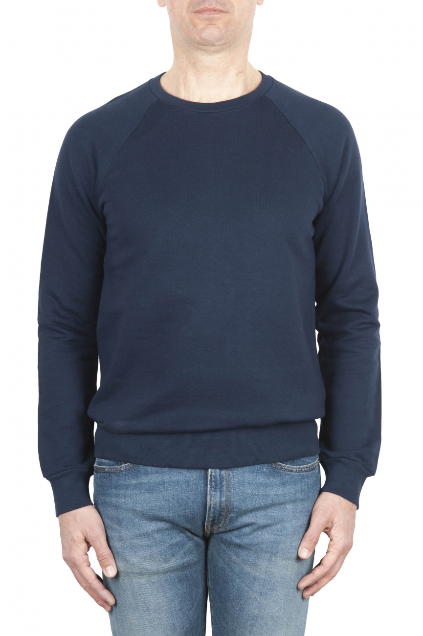 SBU 01770 Sweat en coton bleu à col ras du cou 01