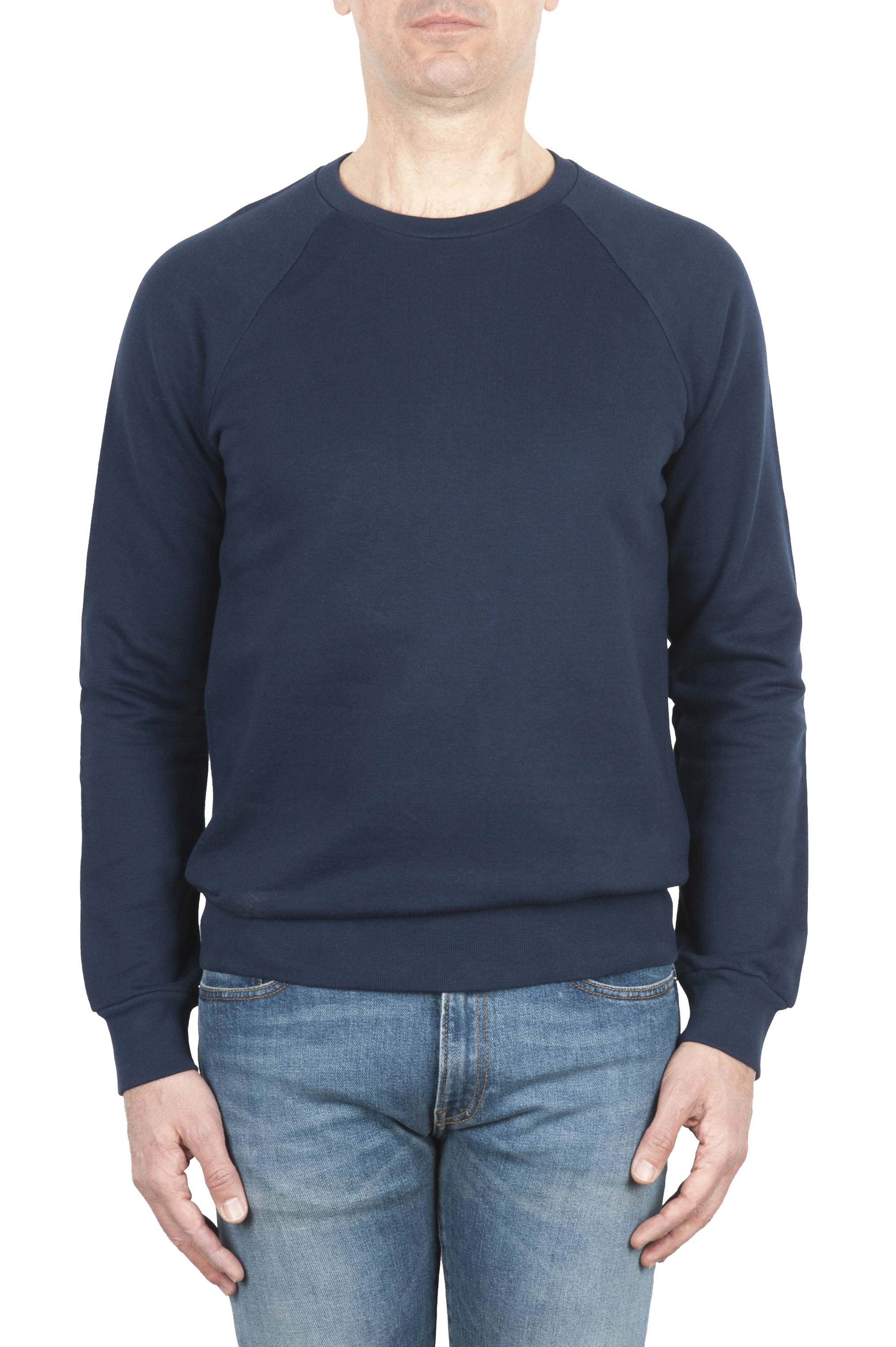 SBU 01770 Crewneck blue cotton sweatshirt 01