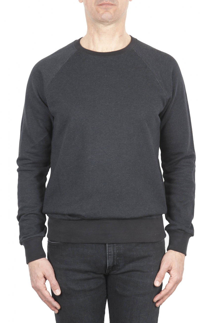 SBU 01771 Felpa girocollo in jersey di cotone grigia 01
