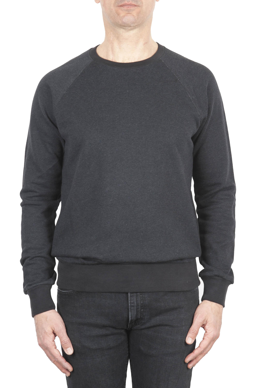 SBU 01771 Sweat en coton gris à col ras du cou 01