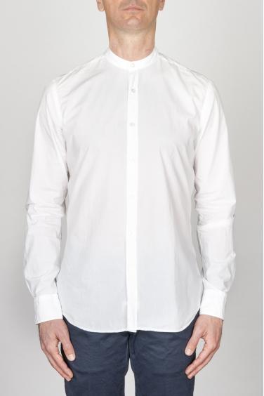 SBU - Strategic Business Unit - Camicia Classica In Cotone Ultra Leggero Collo Coreano Bianca