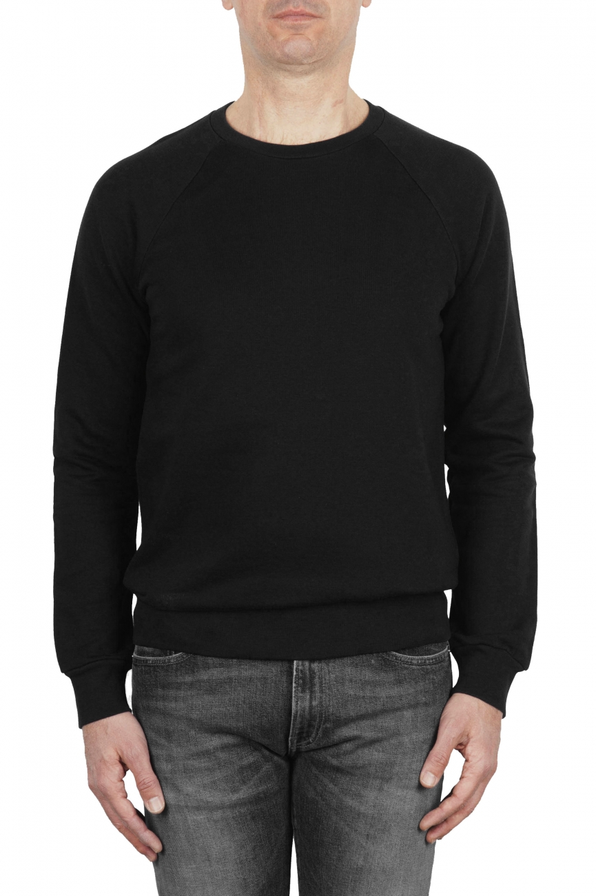 SBU 01772 Crewneck black cotton sweatshirt 01