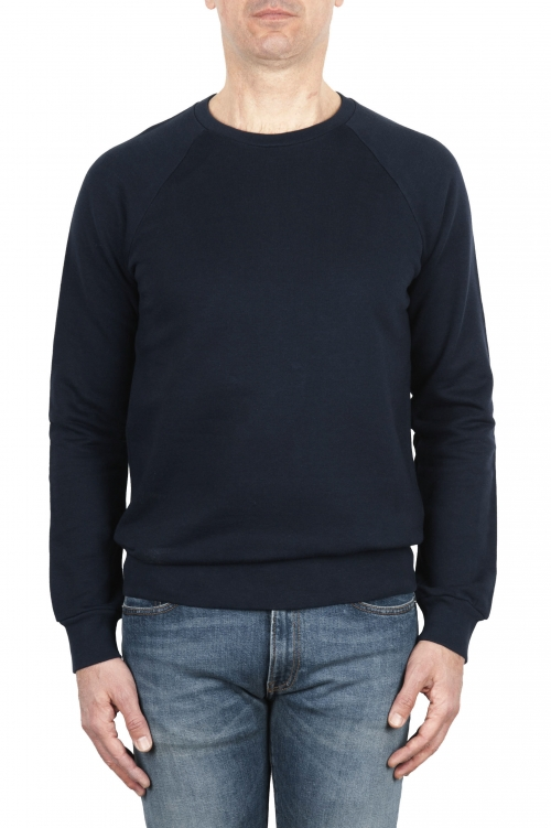 SBU 01774 Felpa girocollo in jersey di cotone blu navy 01
