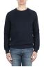 SBU 01774 Sudadera de algodón azul marino cuello redondo 01