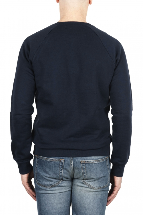 SBU 01774 Crewneck navy blue cotton sweatshirt 01