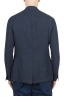 SBU 01775 Single breasted unconstructed blue linen blazer 04