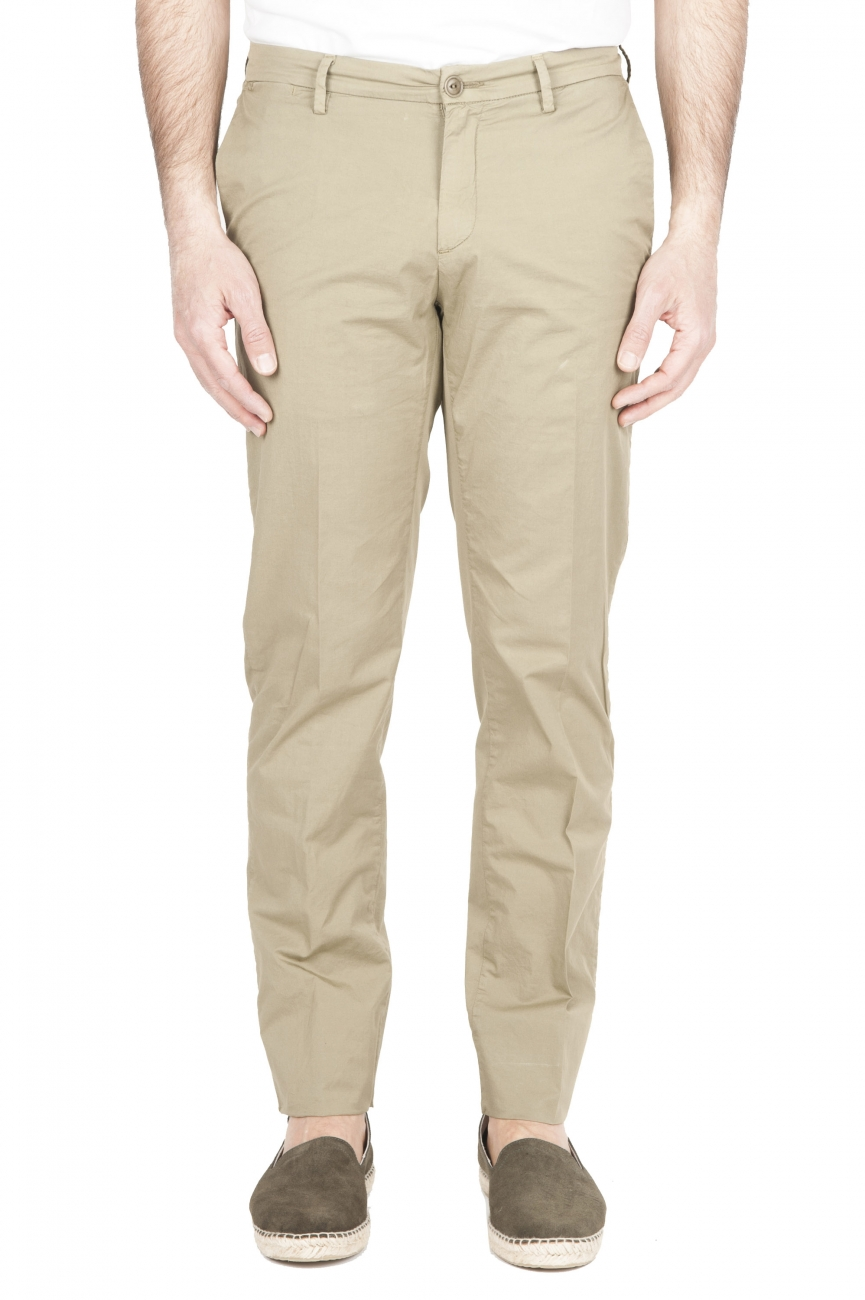 SBU 01778 Ultra-light chino pants in green stretch cotton 01