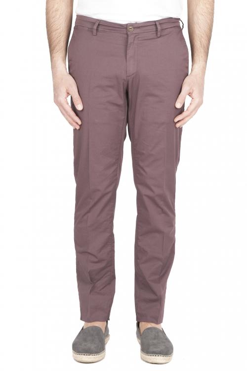 SBU 01779 Pantalón chino ultraligero en algodón elástico burdeos 01